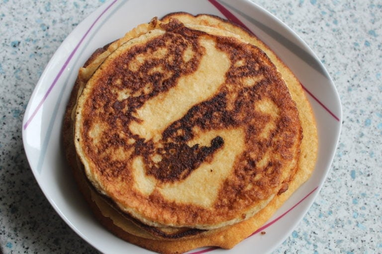 Leckerer Pfannkuchen so saftig und lecker